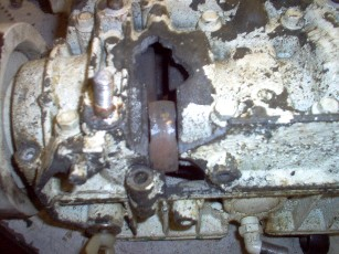 Core with hole in case